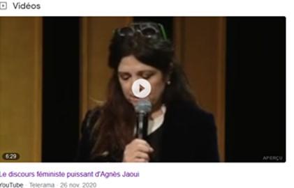 Agnès Jaoui bouleverse avec un puissant discours aux Assises du collectif 50/50 (25/11/2020).